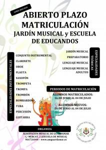 ABIERTO PERIODO MATRICULACION CURSO 2014-15