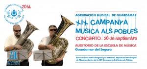 CARTEL CONCIDERTO XIX CAMPAÑA MUSICA ALS POBLES