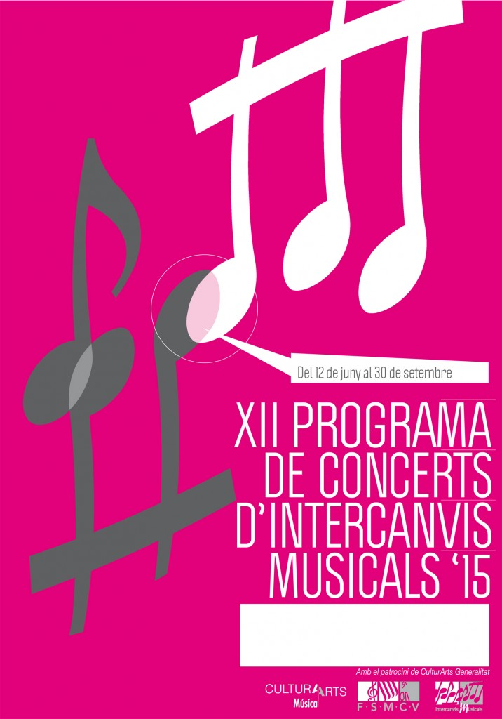 Cartel intercambio musicales 2015