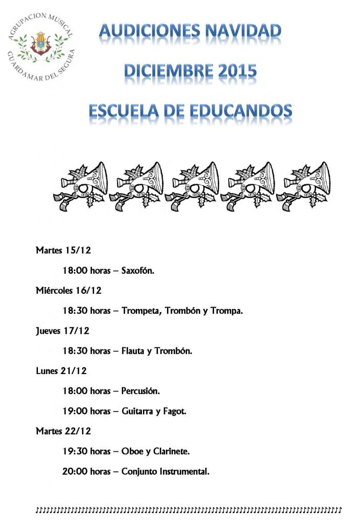 AUDICIÓN NAVIDAD ESCUELA EDUCANDOS 2015